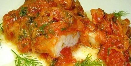 Рыба с помидорами
