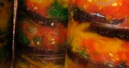 Баклажаны на зиму в медовом маринаде