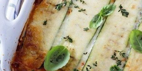 Лазанья с кабачками и шампиньонами